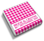 50 Personalised Chic Gingham Wedding Favour Chocolates