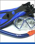 Quality Mask Snorkel & Fins Set, available in ,Black, Blue or Pink asst sizes