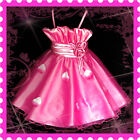 HP5299 Kid HOT Pink Christmas Wedding Party Girls Dress SIZE 2-3-4-5-6-7-8-9-10Y