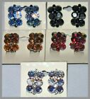 NEW SILVERTONE CLIP ON EARRINGS CRYSTAL LOTs of COLORS SHIPS FAST