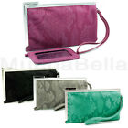 KENNETH COLE REACTION WOMENS FRAME WRISTLET WALLET/CLUTCH MATTE SNAKE HAUTE!