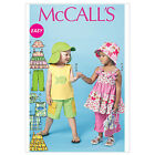 McCall's 6495 Sewing Pattern to MAKE Toddler/Child Top Shorts Trousers Hat