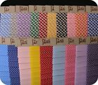 Gingham & Polka Dot Fabric Bias Binding 19mm x 5 Metres Spotty & Check Trimmings