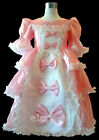 Pink Victorian Wedding Flower Girls Costumes Party Pageant Dress Gown Age 2-13
