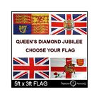 Flag 5'x3' Queen's Diamond Jubilee 2012 - Choose Your Large Flags Union Jack etc