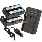 2 x NP-F550 Battery+Charger for Sony NP-F570 NP-F730 NP-F750 F330 F930 F950 F530