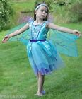 GIRLS KIDS DELUXE DRAGONFLY PARTY FAIRY PRINCESS FANCY DRESS DANCE COSTUME WINGS