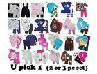 BABY GIRLS 2 & 3 PIECE OUTFIT SET LONG SLEEVE WARM CHILDREN CLOTHES KIDS NB - 4T