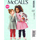 McCall's 6595 Sewing Pattern to MAKE Top, Dress, Pinafore Dress & Leggings