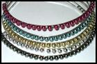 SILVERTONE METAL HEADBAND GLOSSY COLOR BEADS LOTs of STYLES & COLORS SHIPS FAST