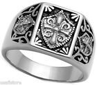Templar Knight No Stone Unisex Stainless Steel Ring