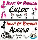 Personalised Birthday Banner 1-4m All Sports Teams +photo Paper Krafty Keepsakes