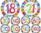 "Wholesale MIXED Radiant BIRTHDAY AGE HELIUM FOIL BALLOONS  18"" BNIP ANAGRAM"