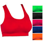 Lightweight Moderate Support Pullover Yoga Workout Exercise Racerback Sports Bra