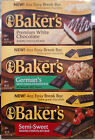 BAKER'S BAKING CHOCOLATE SQUARES BAKERS INDIVIDUALLY WRAPPED ~MANY FLAV*PICK ONE