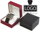 Luxury Leatherette Watch/Bracelet Jewellery Box with Luxury Velvet Cushion SC14