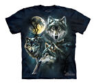 MOON WOLVES COLLAGE Youth T-SHIRT #153309sizes M-XL great wolf image
