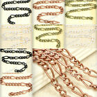 Free Ship New 2m Unfinished Iron Curb Chains Antique Copper Brass Silver Black