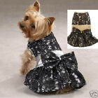 Zack & Zoey Fancy Lacy & Satin Dog Party Dress GOLD or SILVER  LIMITED SIZES!