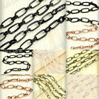 2m Iron Antique Copper Brass Textured Cable Unfinished Chain Wholesale OK HCCH13