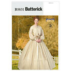 Butterick 5831 1800's Dress & Petticoat Costume Sewing Pattern Anna/Scarlet