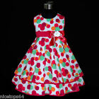 HP3118A Baby Kids Pink Christmas Party Girls Dress Outfit SZ 2,3,4,5,6,7,8,9,10T