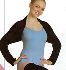 NWT Body Wrappers Ballet Shrug Black Great Coverup Ladies Sizes Skating