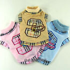Dog&Cat Clothes Shirts Check Pattern Tops_A317