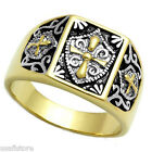 Templar Knight  Gold EP Two Tone Mens Ring