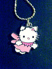 hello kitty pink wings star  1'' charm 16 ball chain