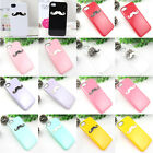 NEW 3D 1pcs Cute Chaplin's black/white mustache for Iphone5 Hard case Cover