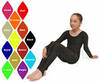 LONG SLEEVE ROUND NECK DANCE/GYM CATSUIT/UNITARD - NYLON LYCRA -ASSORTED COLOURS