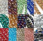 8mm 10mm Faceted Round Crystal Glass Loose Beads DIY Craft