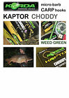 Korda KAPTOR CHODDY Hook *WEED GREEN* Hooks for Carp Fishing Coarse Fishing