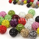 20X ROUND SHAMBALLA CRYSTAL PAVE CLAY DISCO BALL BEADS 6mm 8mm 10mm 12mm 14mm B4