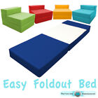 Fold Out Foam Guest Z Bed Chair Waterproof Sleep Over In or Outdoor Futon Single