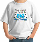 SMALL BUT A BIG BROTHER FUN CUSTOM KIDS BOYS T-SHIRT