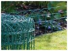 10m/20m/30m/40m X 0.25m Green Pvc Coated Garden Border Fence Fencing Wire Mesh