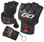 Sporteq Leather MMA Grappling Gloves Thai Boxing UFC, Punch Bag Fight