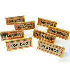 NEW MANAGER DESKTOP TABLE SIGNS FUN NOVELTY HOME OFFICE DESK TOP PLAQUE SIGN
