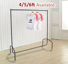 HEAVY DUTY RAIL 4FT 5FT 6FT CLOTHES GARMENT DRESS HANGING DISPLAY STAND RACK NEW