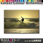 Surfer SEASCAPE SUNSET  Canvas Print Framed Photo Picture Wall Artwork WA