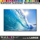 Wave SEASCAPE SUNSET  Canvas Print Framed Photo Picture Wall Artwork WA