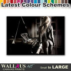 Piano Girl NUDES EROTIC  Canvas Print Framed Photo Picture Wall Artwork WA