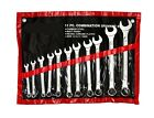 11PC Piece Combination Spanner Set 6,7,8,9,10,11,12,13,14,17,19mm  Nickel Plated