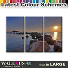 Sunset SEASCAPE SUNSET  Canvas Print Framed Photo Picture Wall Artwork WA