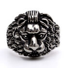 Stainless Steel Silver Lion Mens Ring Size 8 9 10 11 12  R352