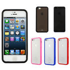 Two-Tone TPU Gel Hard Skin Cover Case w/ Bumper For Apple iPhone 5 / iPhone 5S