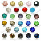 Loose Round Faceted Crystal Glass Spacer Beads Findings Wholesale 8mm 27 Colors