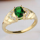 Oval Stone Women Gold Filled Ring Elegant Design Band Size Selecatble
